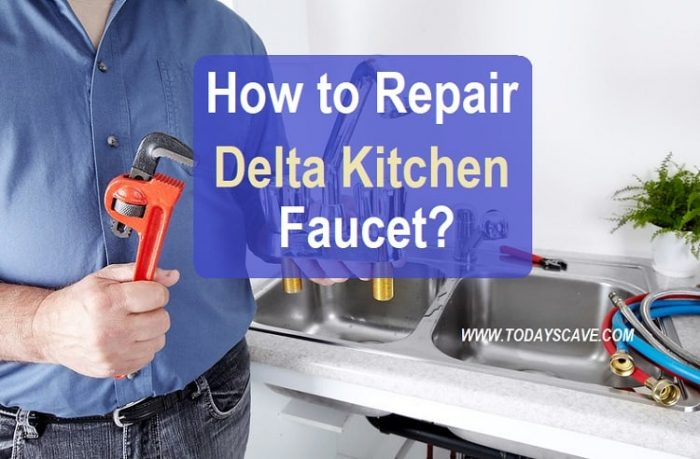 how to repair delta kitchen faucet