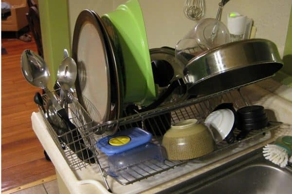 How to prevent dish rack from rusting