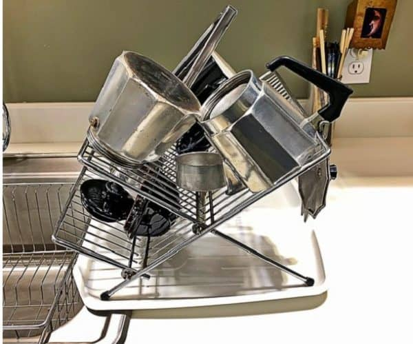 How to remove rust from stainless steel dish rack